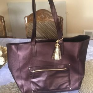 Large burgundy bag